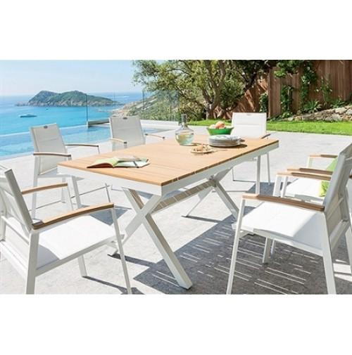 שולחן דמוי עץ כולל ארבעה כיסאות - מונקו
