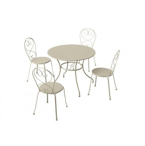 שולחן אלומיניום עגול - מנילה